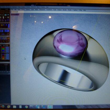 fotorealistischer Entwurf eines Ringes mit CAD