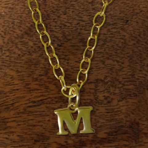 Buchstabenanhänger in 585 Gold