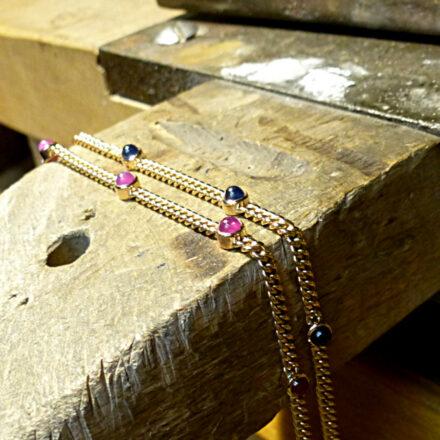 Armbänder Rotgold Safir Rubin