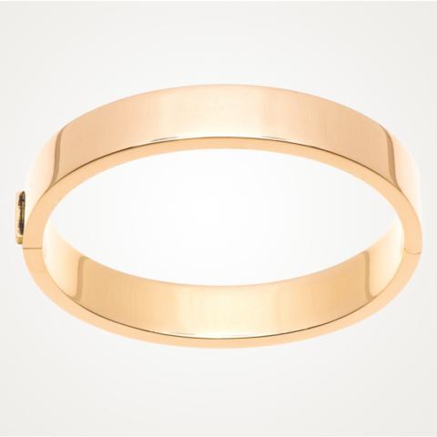Armreifen mit eckigem Profil in 750/- rose Gold