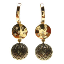 Ohrringe in Rotgold mit Galatea Perlen