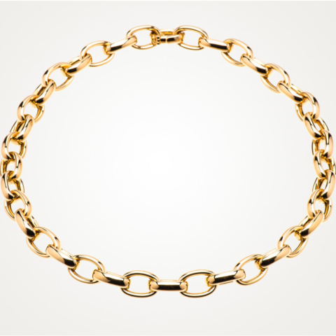 Collier Ankerkette in 750 Gelbgold