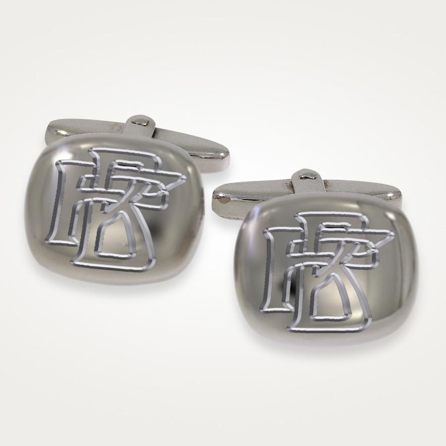 Manschettenknöpfe in Silber mit Monogramm Gravur