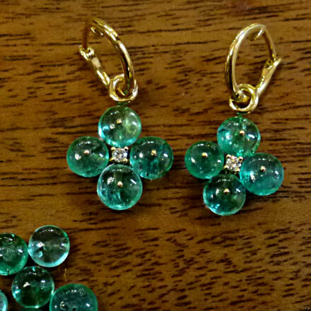 Ohrhänger Smaragd-Perlen