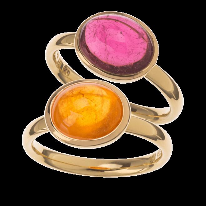 Ring Mandarin Granat, rosa Turmalin