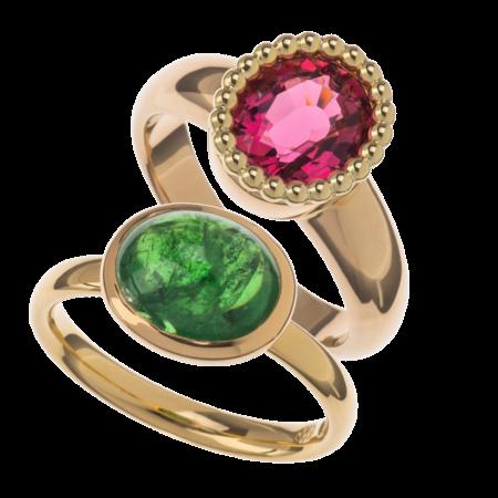 Ring Tsavorith Ring roter Turmalin