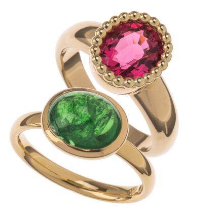 Ring Tsavorith Ring roter Turmmalin