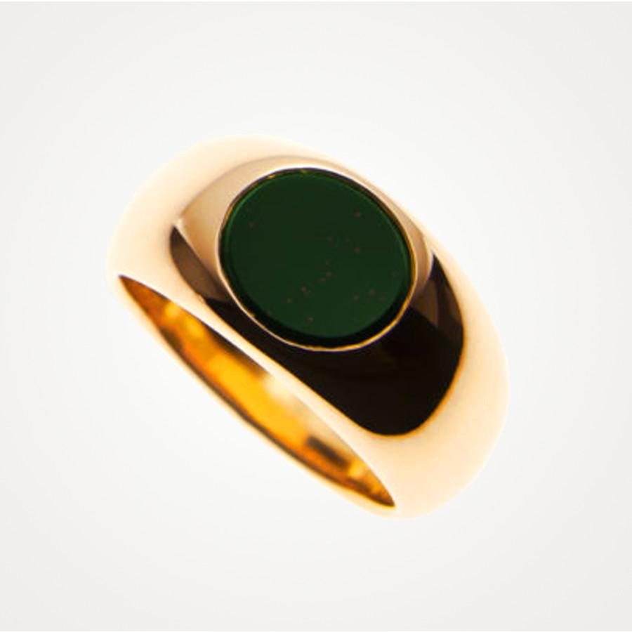 Siegelring in Bandring-Form mit einem ovalen Jaspis